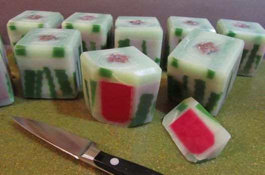 Watermelon Candy Soap by tinkerheck