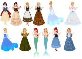 Disney characters vs. Fairytale characters by musicmermaid