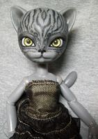 Hujoo Freya WIP BJD Cat Anthro Doll by AdeCiroDesigns