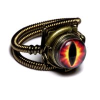 Steampunk Demon eye Ring by CatherinetteRings