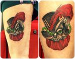 Puss in Boots Tattoo by cam-miyu