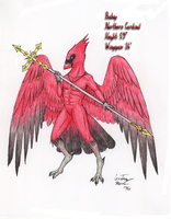 Northern Cardinal Anthro by Chobaryu
