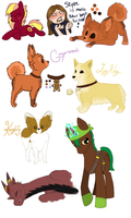 Doodles and Adoptables by Kayla-san