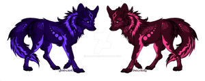 Tribal Twins Canines Adoptables-(CLOSED) by Amabyllis
