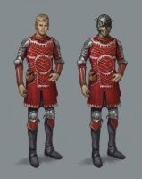 Character Concept- Red armor by AndrewRyanArt