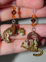 Custom Leopard Earrings by Secretvixen