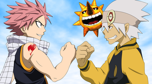Natsu Dragneel and Soul Eater Evans by SonicHakeem
