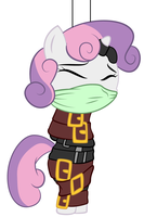 sweetie belle all strapped up by brayburnman