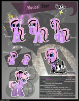 Musical Star Reference Sheet( With Bio ) by NovineShimmer