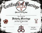 SATANIC MARRIAGE CERT by MSOwolf