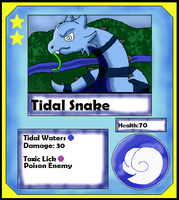 Tidal Snake Card (Adopt) by Dianamond