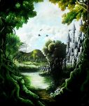 the land of my dreams-painting by Hidden-Treasury
