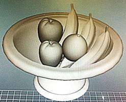 Fruit Bowl Still Life 2 -Without pear by BabyFaceCrossbones
