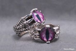 Dragon claw wedding set by Dans-Magic