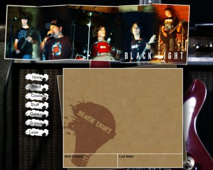 Black Light band homepage by Ruhrpott