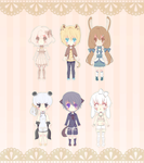 (1/6)Kemonomimi Adopts (open) by Luumies