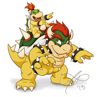 bowser and jr by Rainmaker113