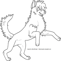 Free Lineart Canine by NarmiCreator