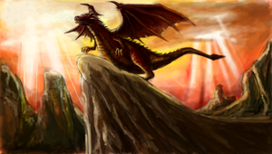 Rising dragon by bloodyheart97