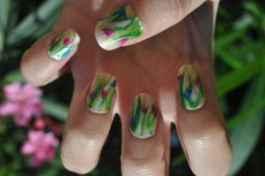 Tulips Nail Art! by lamaisol