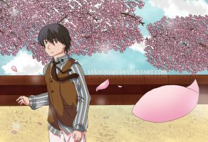 Kiku Honda: By the Sakura Blossoms by JaxAugust