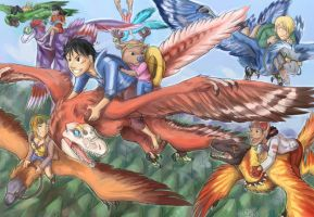 dinosaurs plus one piece by edface