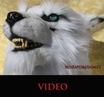 White wolf mask video by MissRaptor