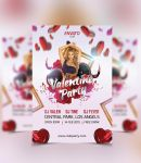 Valentine Day Party Flyer Template by FAFAEFEL
