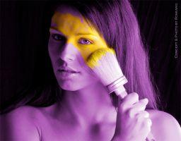 Yellow on Purple by Carnisch