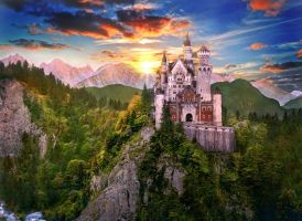 Neuschwanstein Castle by tigercek