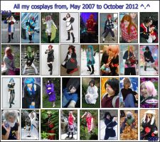 My cosplays 2007 - 2012 by Dark-Angel15-2010