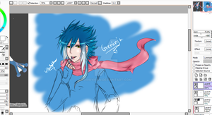 Greninja gijinka WIP by Kirby1fan