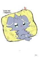 Espurr on his pillow being cute by Tashiyoukai