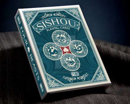 SiShou - Four Beasts Playing Card by alvincheunghy