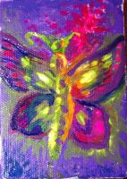 Fluorescent butterfly by CORinAZONe