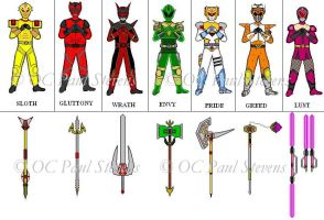 Power Rangers Chaos and weapon by Pauljeta69