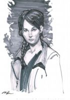 Katniss Marker Sketch by amherman