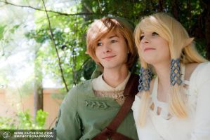 Link and Zelda - MidoriCon 2013 by Karinia