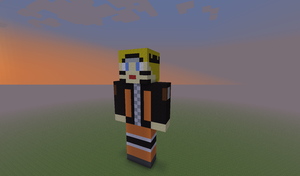 ::Gift:: Naruto Minecraft Statue by Syn-the-Guardian