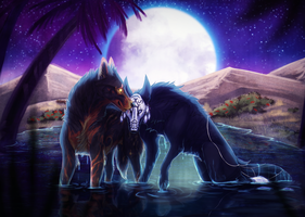 [COM] By the Moonlit Oasis by JatoWhitz