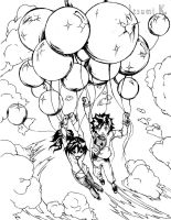 Ballooning to Heaven by ItsumiK