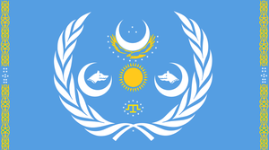 Flag of Turkic Union by zalezsky