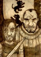 The Hound and The Mountain by Monkey19934