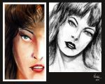Milla Jovovich studies by philippeL