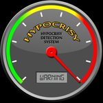 Hypocrisy Meter: A Graphic for Facebook and Forums by AskGriff