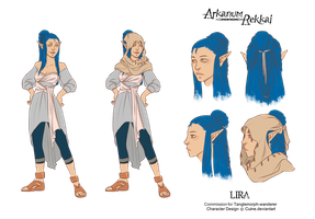 Character Design- Lira by Cuine