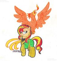 [MLP] Sunset Shimmer as Phoenix by SkywalkerGirl666