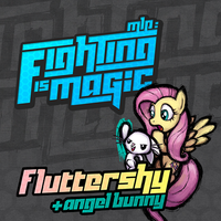 Fighting is Magic Soundtrack Album Art -Fluttershy by smokeybacon