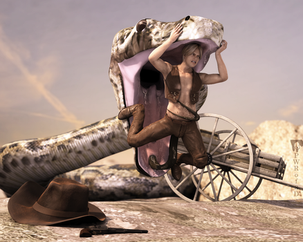 The Cowboy and the Snake by PWRof3D