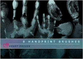 Handprint Brushes by HeartDriven